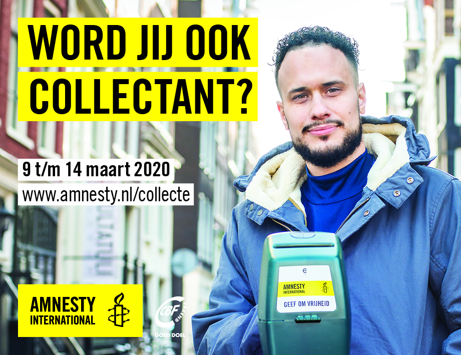 Collecteren voor Amnesty